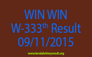 WIN WIN W 333 Lottery Result 9-11-2015