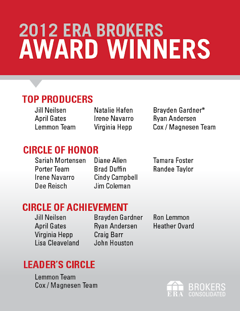 ERA Brokers Consolidated congratulates their company award winners.