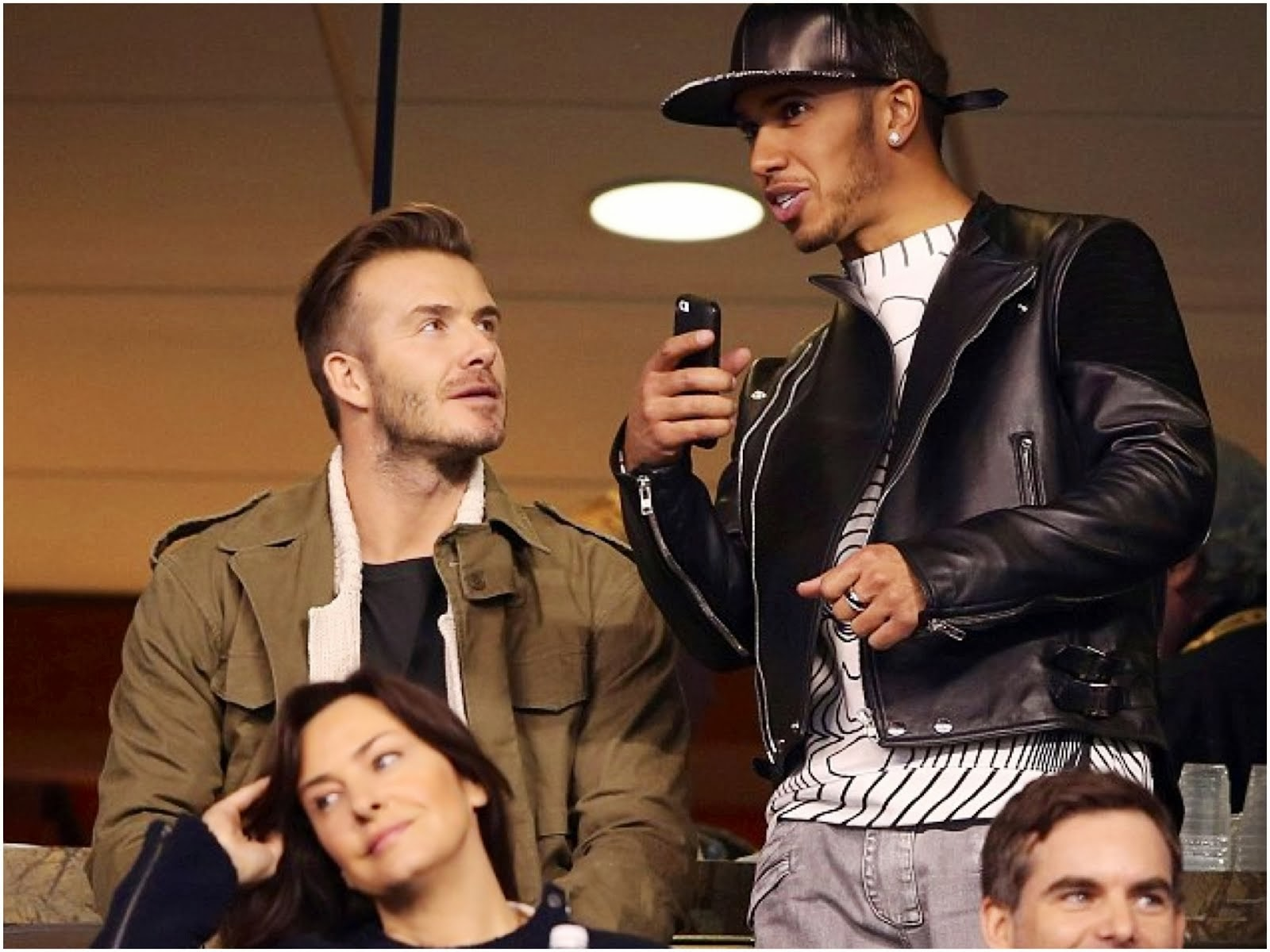 Lewis Hamilton in Givenchy, Christopher Kane and Balmain - Pepsi Super Bowl XLVIII