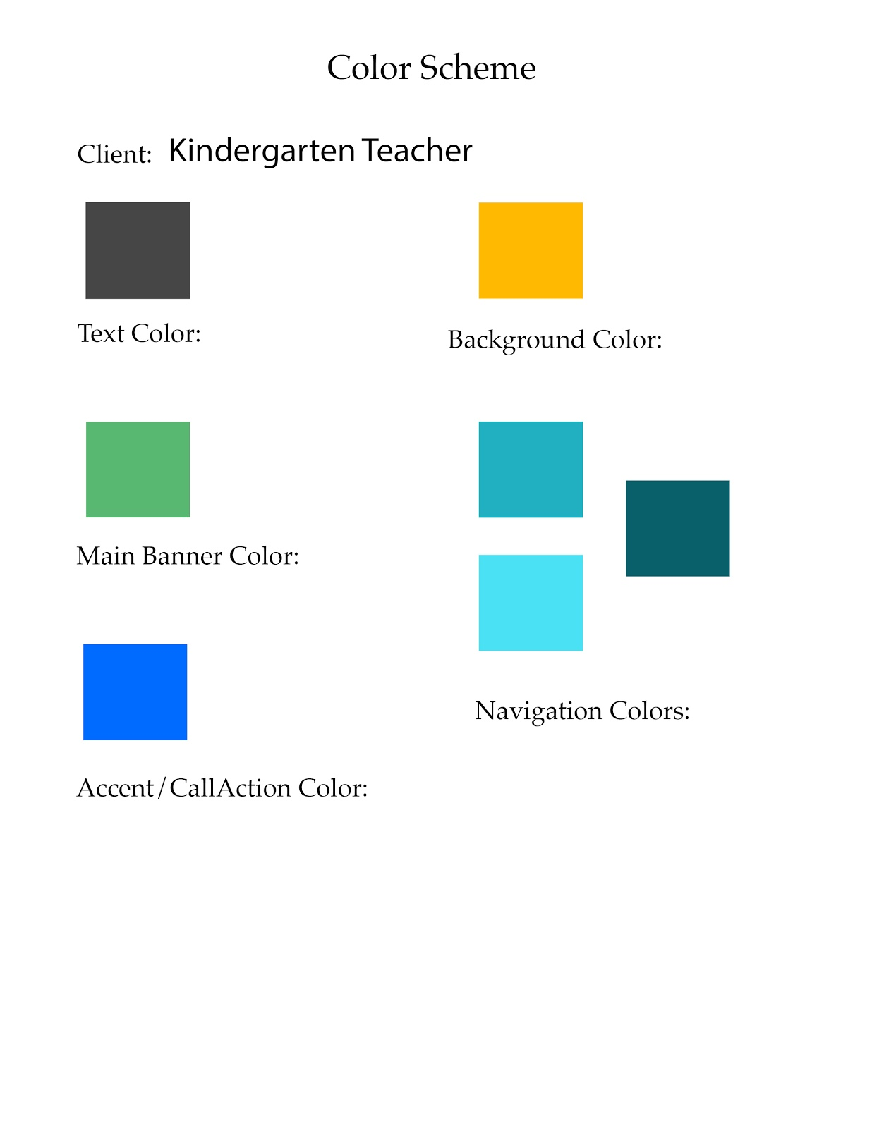 color scheme kindergarten teacher