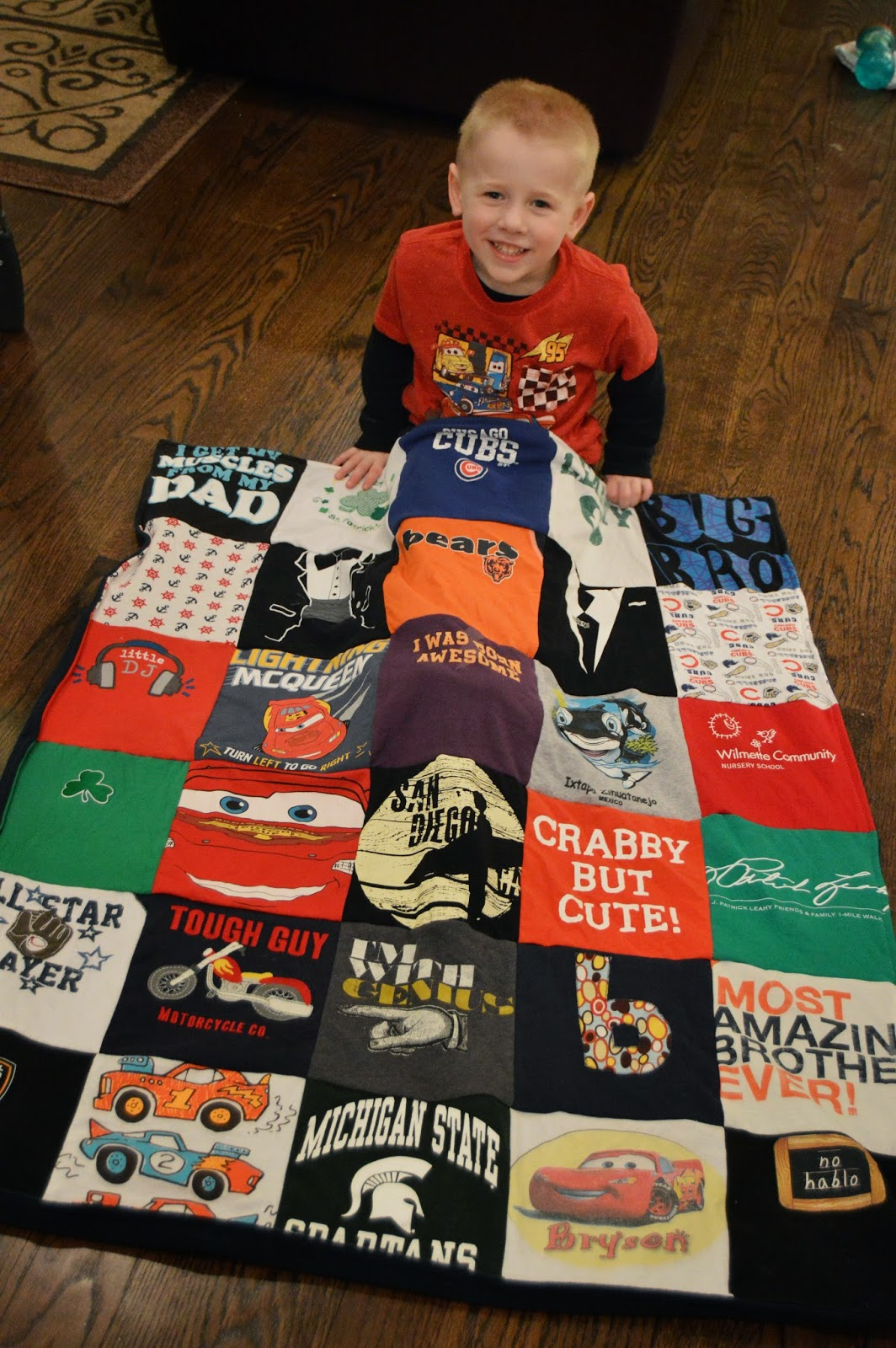 Project Repat T-shirt Quilt Finished Product