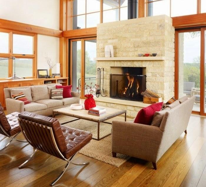 Dise os de salas r sticas modernas colores en casa for Sala de estar rustica y moderna