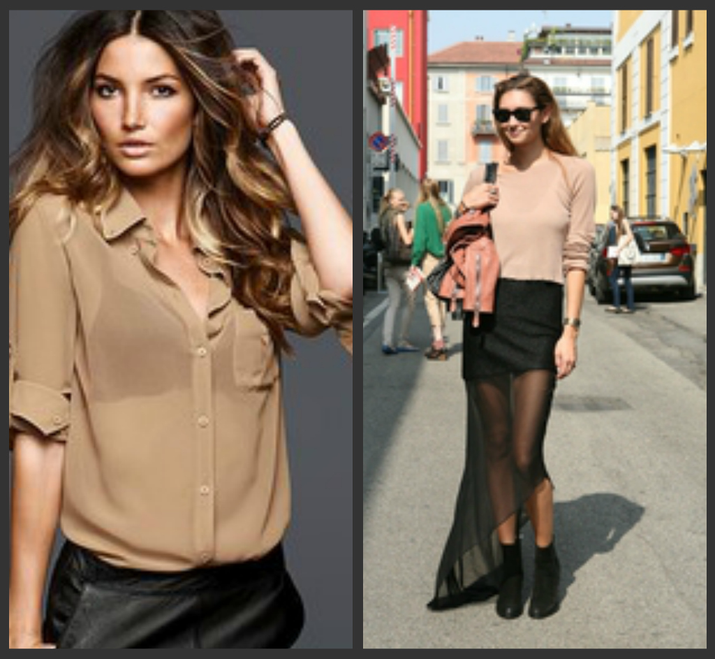 What To Wear Under A Sheer Off White Blouse 45