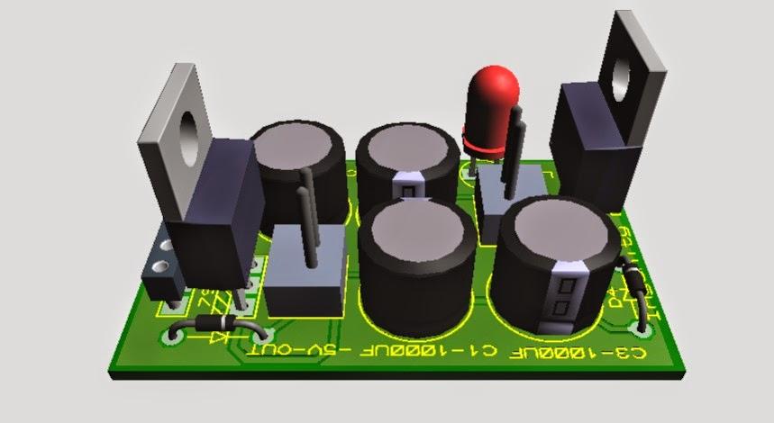 Dual 5v Power Supply Unit Proteus Simulation