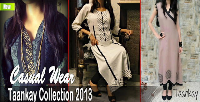 Taankay Casual Wear Dresses Collection 2013