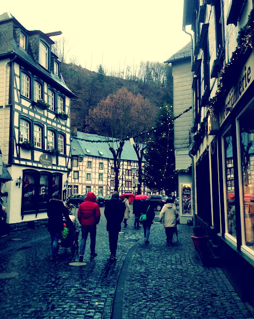 Monschau, Germany at Christmas Time