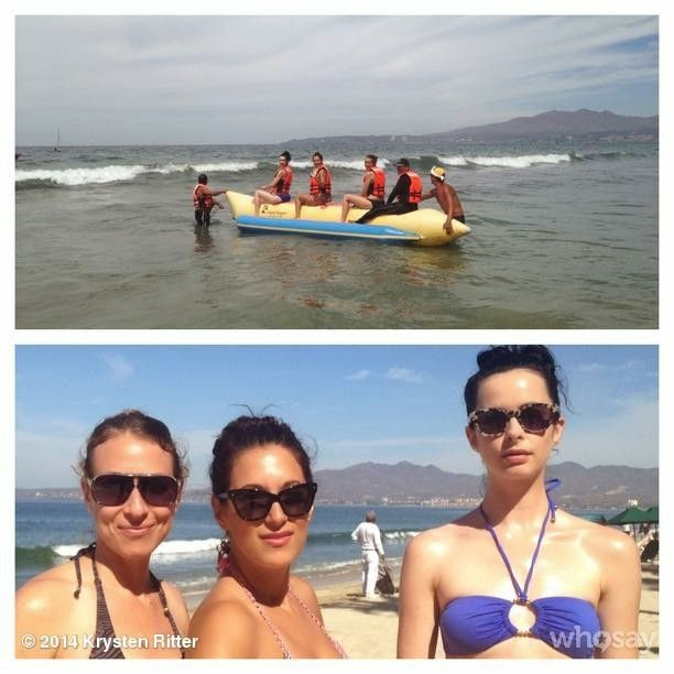Krysten Ritter shares a few images into her Instagram account at Cabo San Lucas, Mexico on Tuesday, April 29, 2014