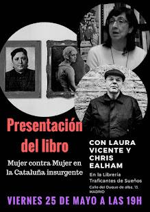 """PRESENTACIÓN DEL LIBRO """"MUJER CONTRA MUJER EN LA CATALUÑA INSURGENTE""""."""