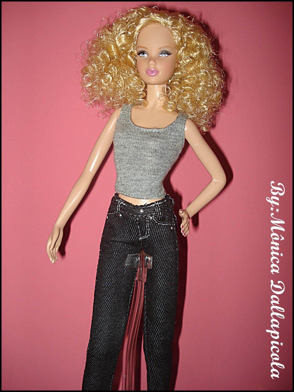 Vinho Meias Para Boneca Barbie Silkstone moderna feita para mover Model Muse