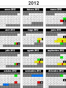 Calendario de Torneos de Scrabble 2012