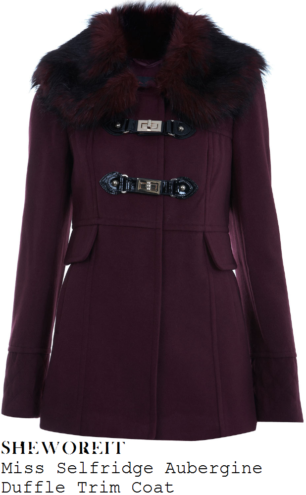 sheworeit: Louise Thompson's Miss Selfridge Aubergine Purple ...