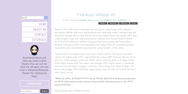 Anis Diyana Tukar Template Blog Lagi