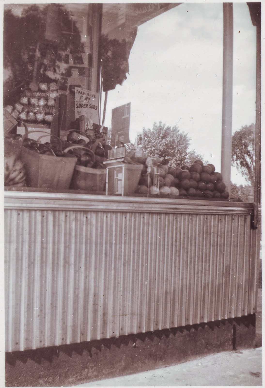 The front window of the Westboro Confectionery, mid-1940s