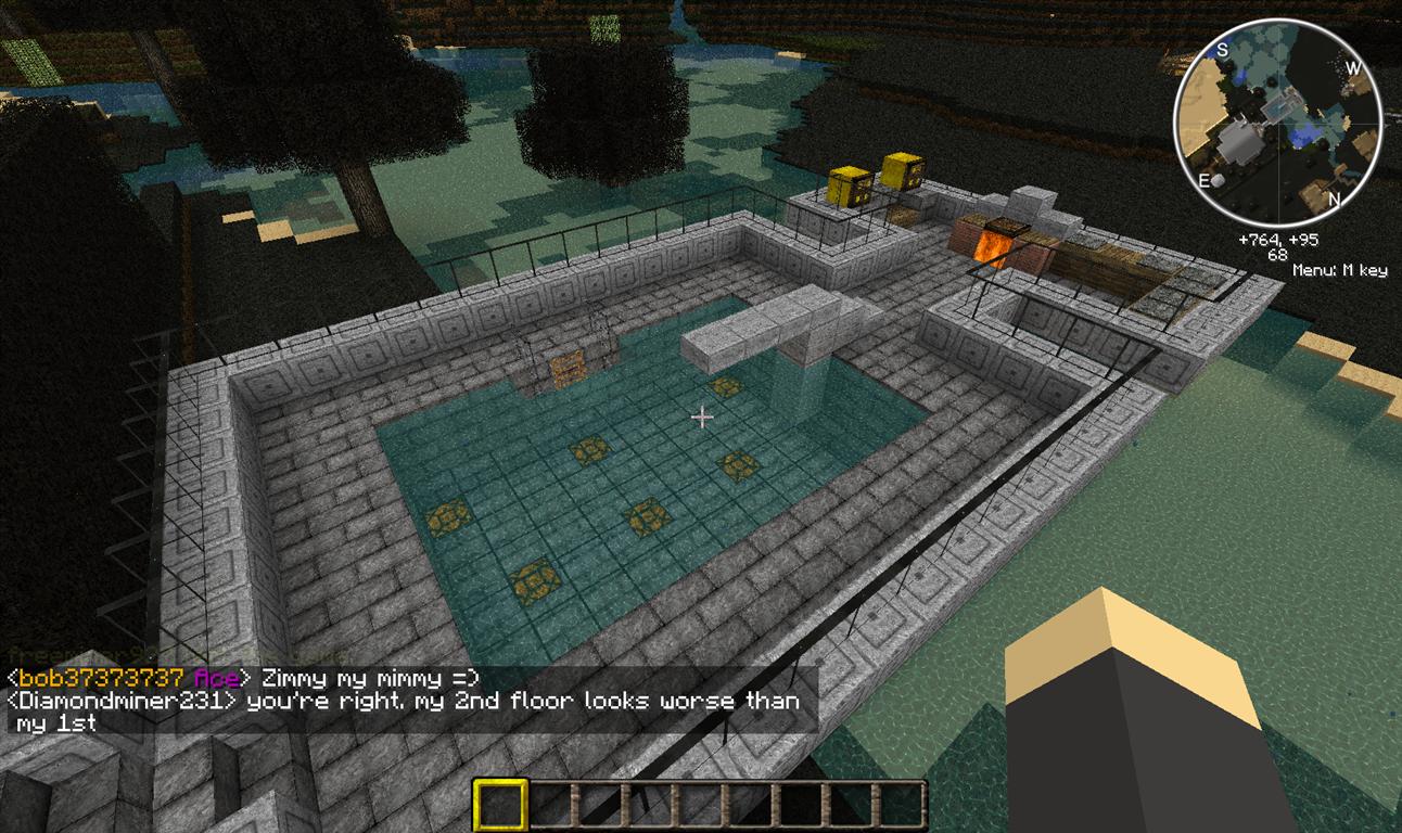 Jd 39 s gaming blog minecraft creations the brick mansion for Minecraft kitchen ideas xbox