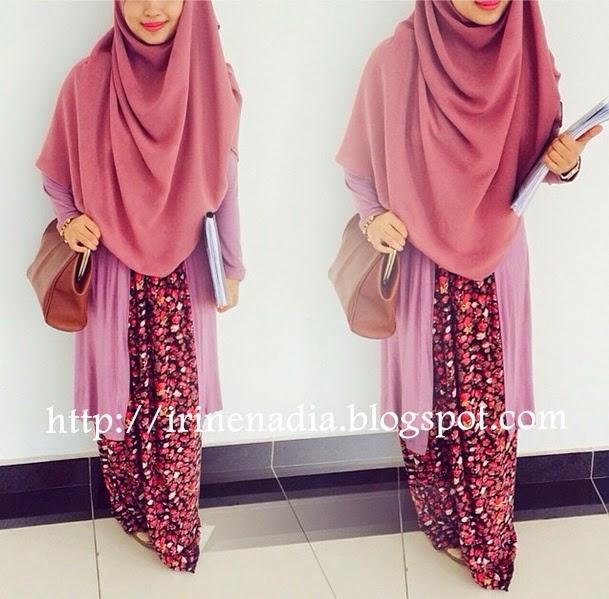 Tutorial memakai shawl labuh, lebar dan panjang. | Irine Nadia