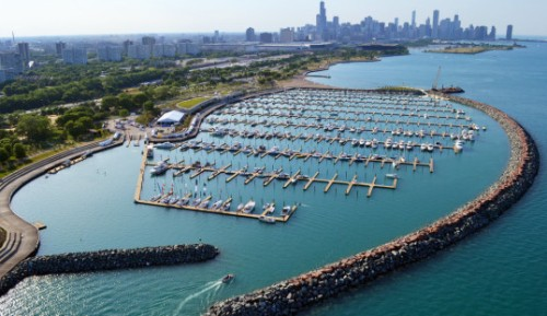 Chicago in-water Boat Show