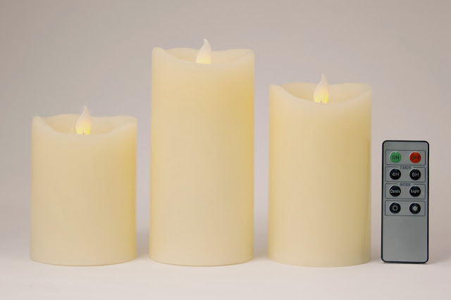 Flickering Flame Mood Candles | Flameless Candles