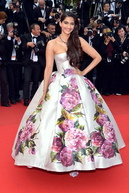 Sonam Kapoor Cannes 2013 in Dolce & Gabanna