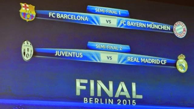 Hasil Drawing Jadwal Semifinal Liga Champion 2015