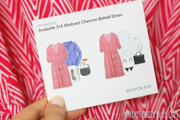 Stitch Fix Anabelle 3/4 Abstract Chevron Belted Dress from 41Hawthorn