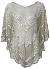 festival fashion sequin poncho