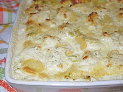 Gratin de quenelles aux courgettes et au fromage ail et fines herbes (voir la recette)