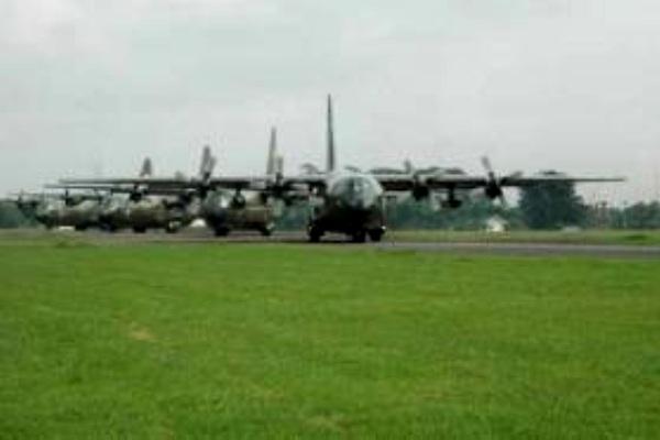 Armada Pesawat C-130 Hercules Skadron Udara 31 Wing 1 Lanud Halim Perdanakusuma. PROKIMAL ONLINE Kotabumi Lampung Utara