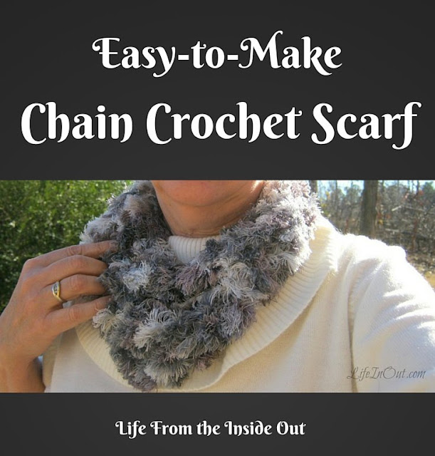 Easy to Make Chain Crochet Scarf from Life from the Inside Out