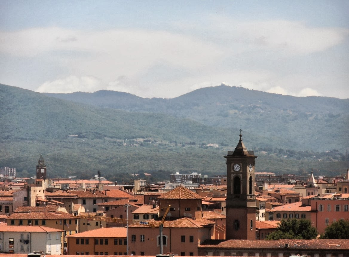 The rooftops of Livorno, Italy, as seen from the cruise ship