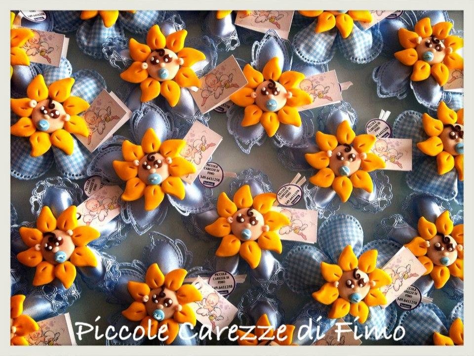 Bomboniere Matrimonio Girasoli : Piccole carezze di fimo bomboniere con bimbo girasoli