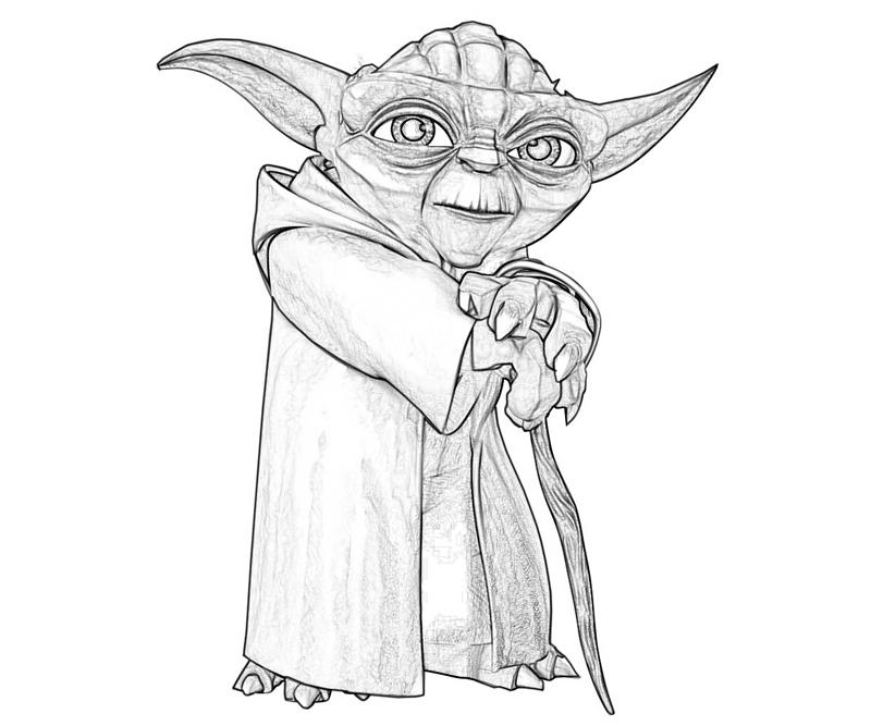 Yoda Pages Printable Coloring Pages