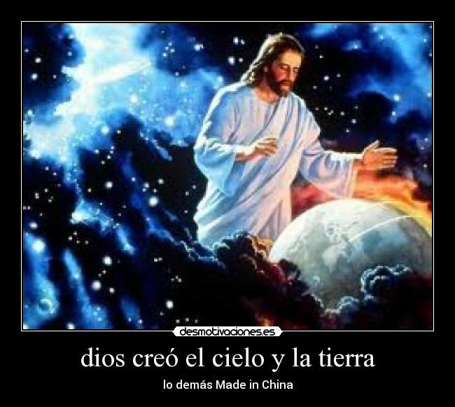 Dios creo el cielo y la tierra for En 7 dias dios creo el mundo