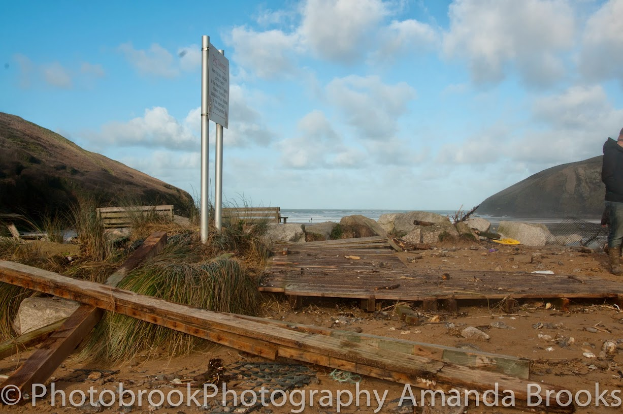 Mawgan Porth Storm Damage
