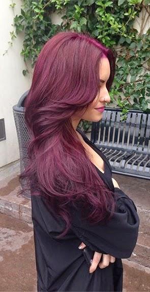 Mahogany Red To Burgundy  Dark Brown Hairs