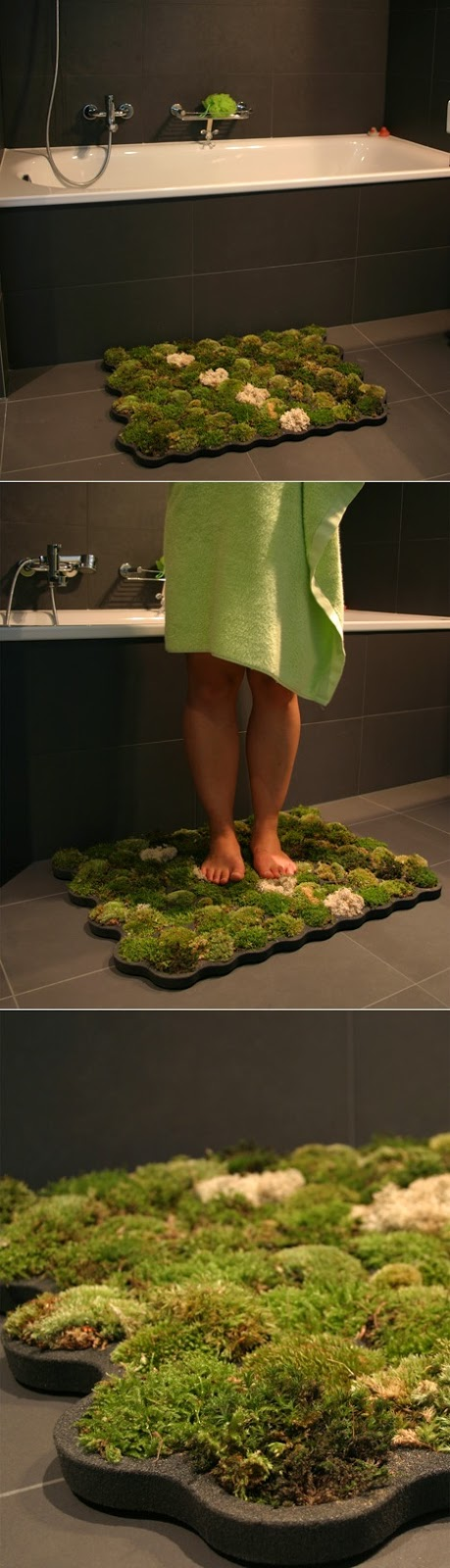 bathmat made of moss