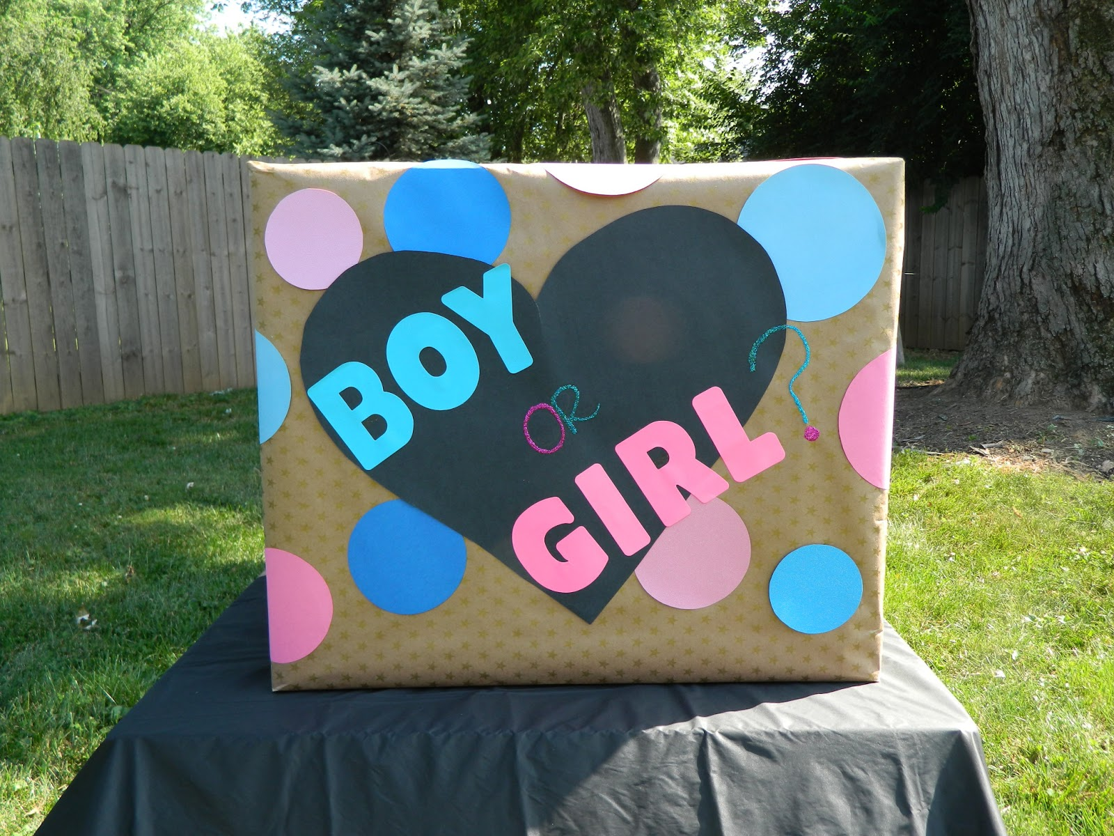 The nifty thrifty family gender reveal party for Nifty family
