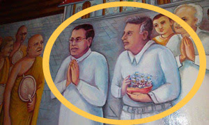 MAITHRI AND RANIL FEATURED IN MURAL OF ABHAYAGIRI VIHARA