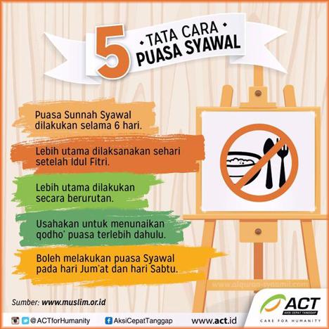 5 Tata Cara Puasa Syawal