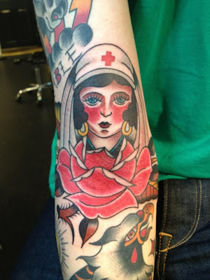 Nurse Tattoo Design for Arm