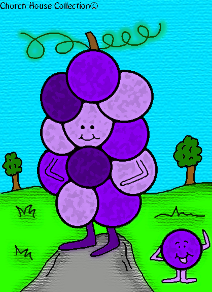 God Is GRAPE-TASTIC! Coloring Page