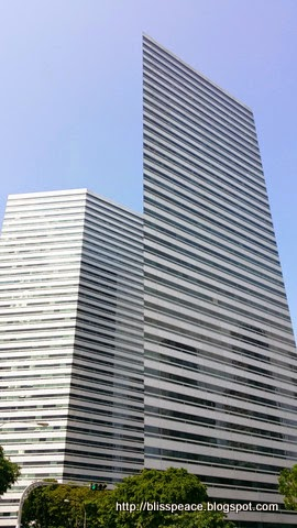 Skyscrapers along beach road ....