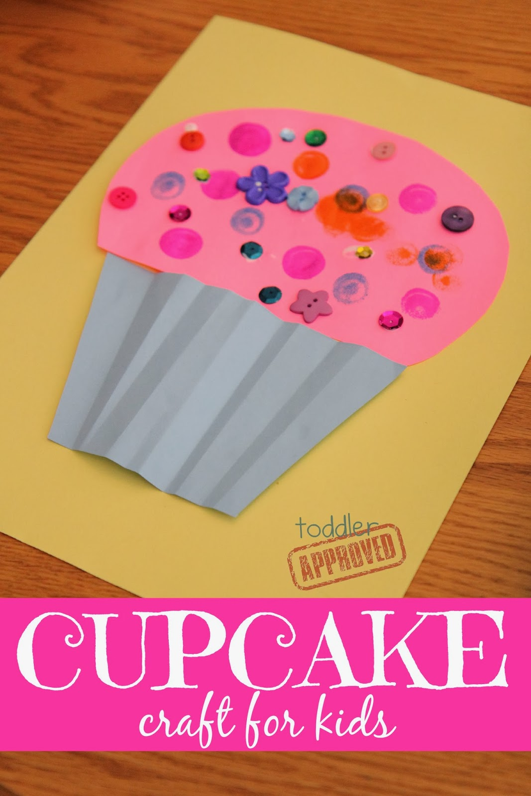 Toddler approved cupcake craft for kids laura numeroff for Art and craft books for kids
