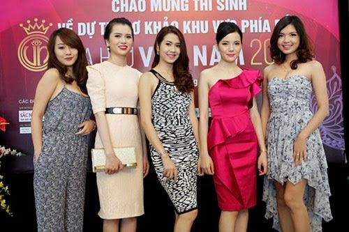 Thí sinh đẹp rạng rỡ trong buổi sơ khảo Hoa hậu Việt Nam