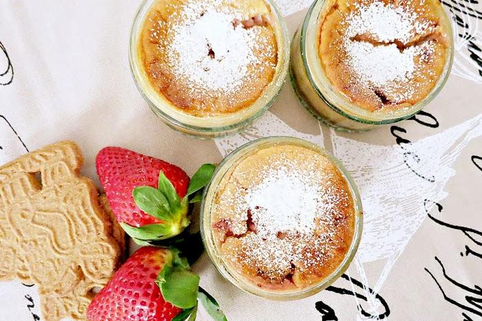 Strawberry Cheesecake mit Spekulatiusboden