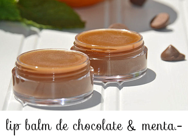 lip balm chocolate y menta