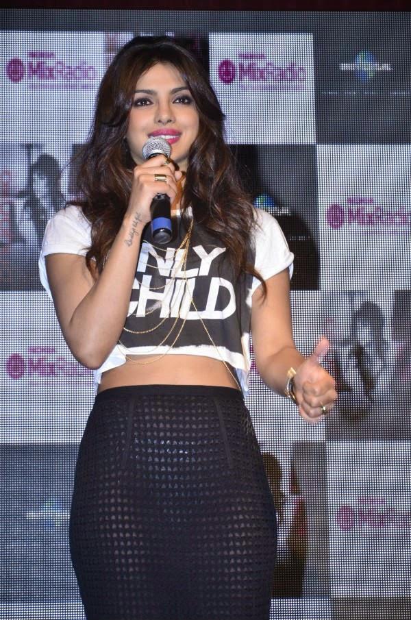 Priyanka Chopra in transparent skirt
