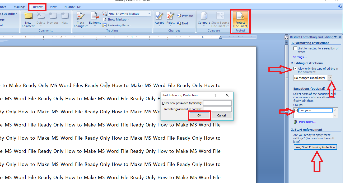 Learn New Things: How to Make Ready Only MS Word Files (No ...
