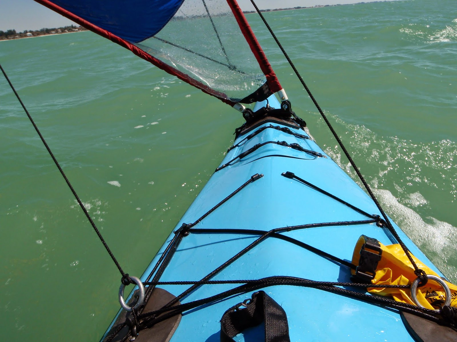 Running downwind in the early afternoon of the Everglades Challenge 2010