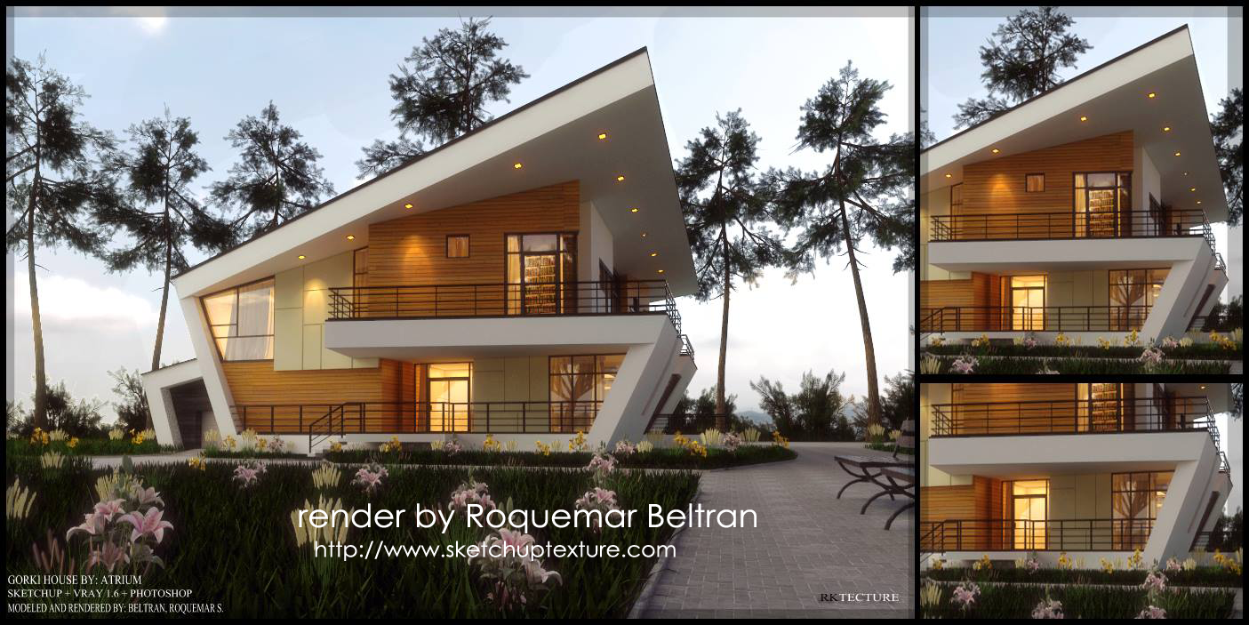 Sketchup Texture Free Sketchup 3d Model Gorki House With Vray 1 6 Beta Parameters