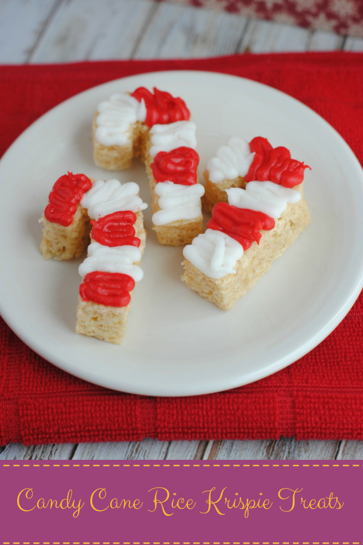 Candy Cane Rice Krispie Treats | Growing up Madison